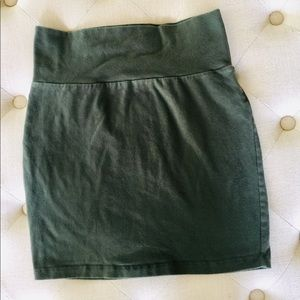 Charlotte Russe Olive Green Bodycon Skirt M